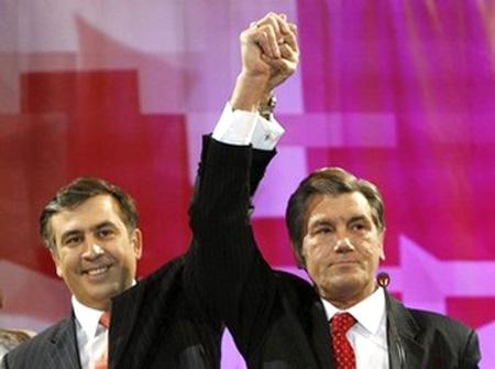 Saakaschwili und Juschtschenko